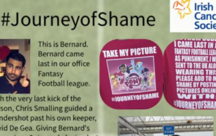 PICS: Irish man has an excellent forfeit after finishing last in his fantasy football