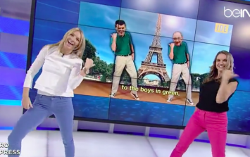 VIDEO: These TV presenters in the Middle East had to recreate JOE's O'Neill & Keane dance live on-air