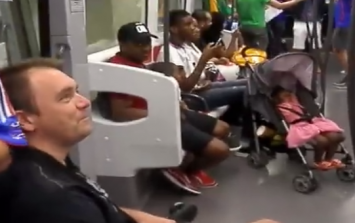 "VIDEO: ""Miracle"" as Frenchman in wheelchair stands up for the boys in the green"