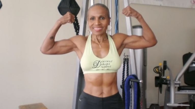 The world's oldest female bodybuilder just celebrated a big birthday