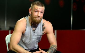 PIC: Conor McGregor looked like he was enjoying Rihanna's company in Dublin last night