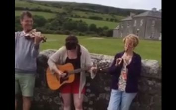 WATCH: Irish family recreate the Father Ted theme tune outside of the very house itself