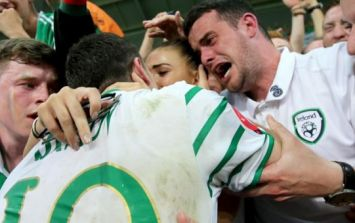 WATCH: Robbie Brady celebrating with his family the standout moment in UEFA thank you to Euro 2016 fans