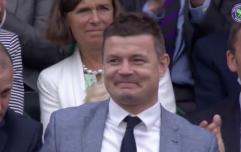 WATCH: Brian O'Driscoll got a lovely reception at Wimbledon today