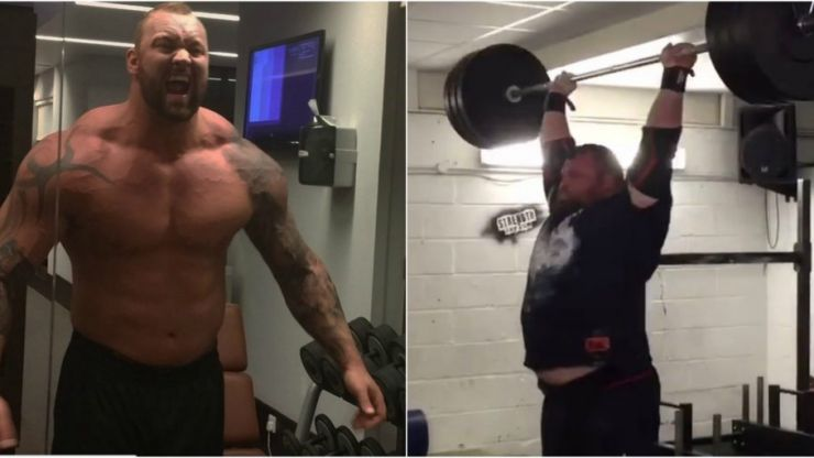Eddie Hall annihilates The Mountain at 150kg strength challenge before World's Strongest Man