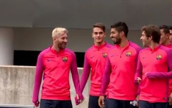 VIDEO: Barcelona's players prepare for Dublin friendly with a game of bubble football