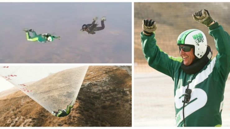 VIDEO: Watch this skydiver land a 25,000ft jump without a parachute