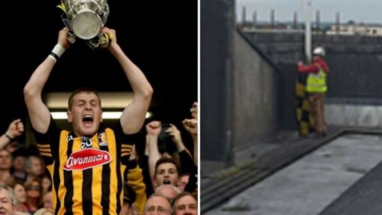 PIC: This Kilkenny fan might be the bravest man in Ireland after this stunt in Waterford