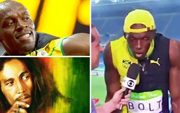 Usain Bolt singing Bob Marley's One Love is pretty special