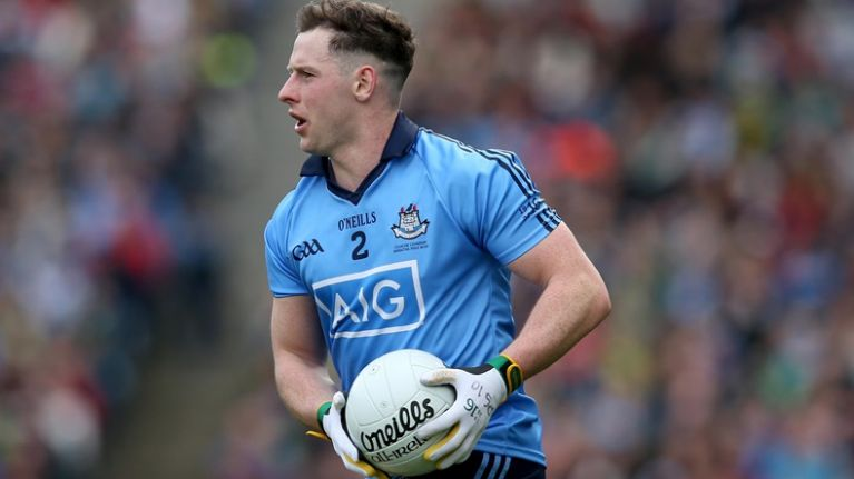 PIC: Philly McMahon pays a lovely tribute to the late 'Batman' Ben Farrell after Dublin's victory over Kerry