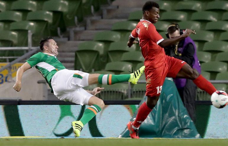 Three International Friendly, Aviva Stadium, Dublin 31/8/2016Republic of Ireland vs OmanIreland's Robbie Keane scores a goalMandatory Credit ©INPHO/Morgan Treacy