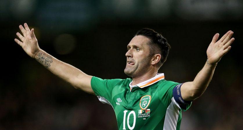 Three International Friendly, Aviva Stadium, Dublin 31/8/2016 Republic of Ireland vs Oman Ireland's Robbie Keane celebrates scoring Mandatory Credit ©INPHO/Tommy Dickson