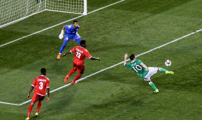 Three International Friendly, Aviva Stadium, Dublin 31/8/2016Republic of Ireland vs OmanIreland's Robbie Keane scores his sides second goalMandatory Credit ©INPHO/Gary Carr