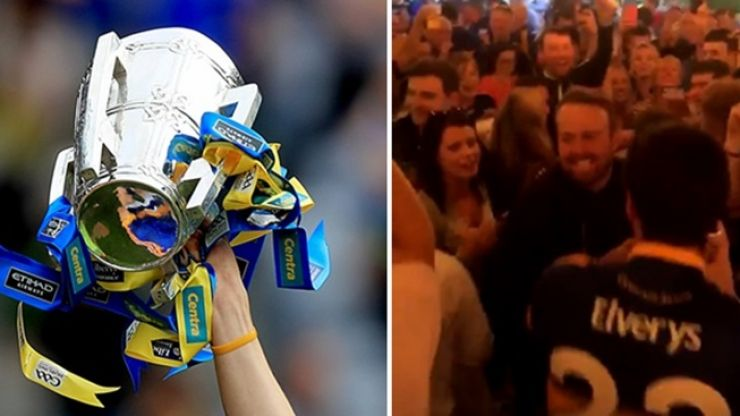 WATCH: Shane Lowry joins in with Tipp fans as they celebrate their All-Ireland win