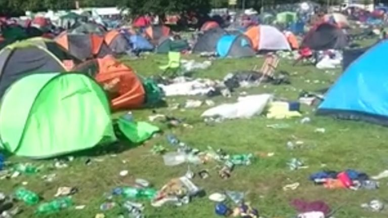 Watch Footage Shows The State Of The Electric Picnic Campsite After