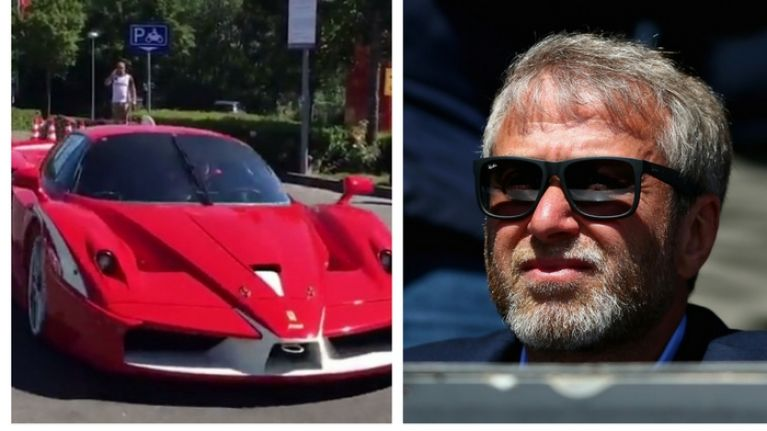 Chelsea owner Roman Abramovich shows of his €10m fleet of supercars for the first time