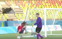 WATCH: Ireland's goalie absolutely decked a Team GB player in the Paralympics soccer last night
