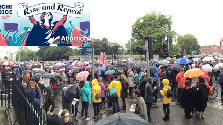 PICS: Thousands of people turnout for the pro-choice 5th annual March For Choice in Dublin