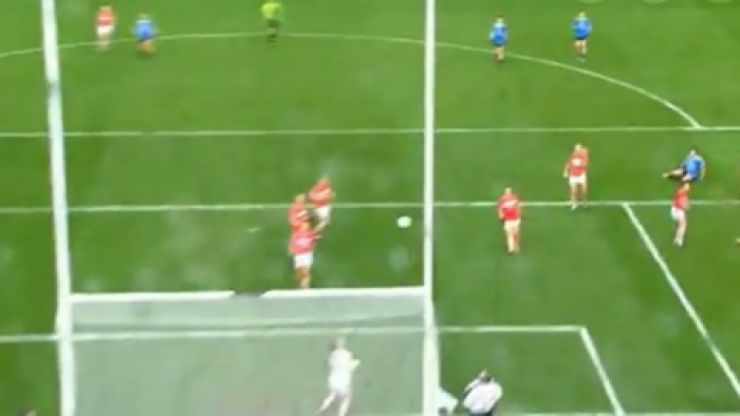 WATCH: The controversial point that wasn't given to Dublin as Cork win the Ladies Football title