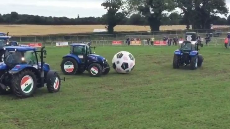 WATCH: Tractor football is going on at the Ploughing Championships and it's something else