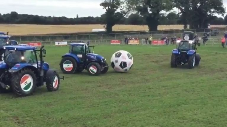 WATCH: Tractor football is going on at the Ploughing
