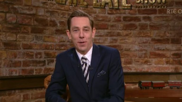 Here's the line-up for tonight's Late Late Show