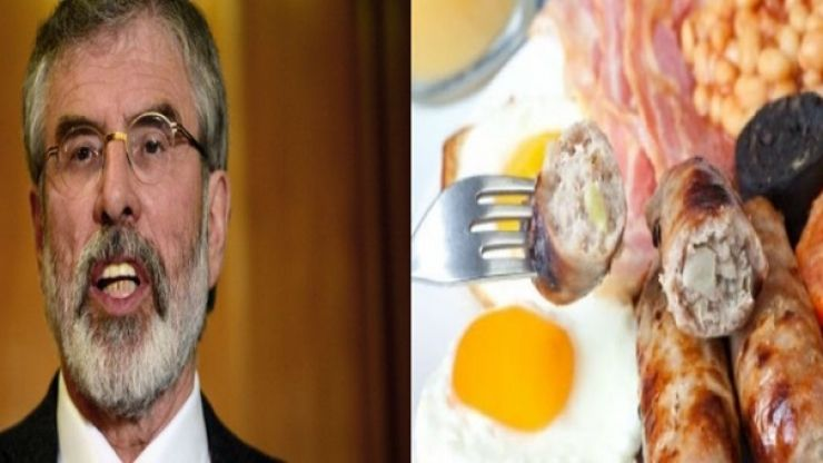 """TWEET: Gerry Adams sparks debate about how to make a fry in the """"British occupied six counties"""""""