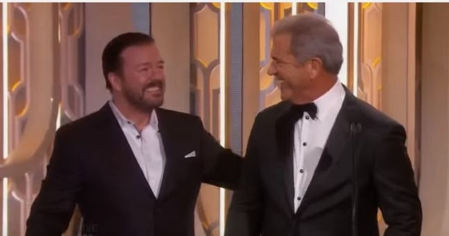 VIDEO: Ricky Gervais burns Mel Gibson, Ben Affleck & most of Hollywood in his brilliant best