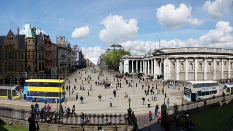 College Green in Dublin to be pedestrianised for three days this summer