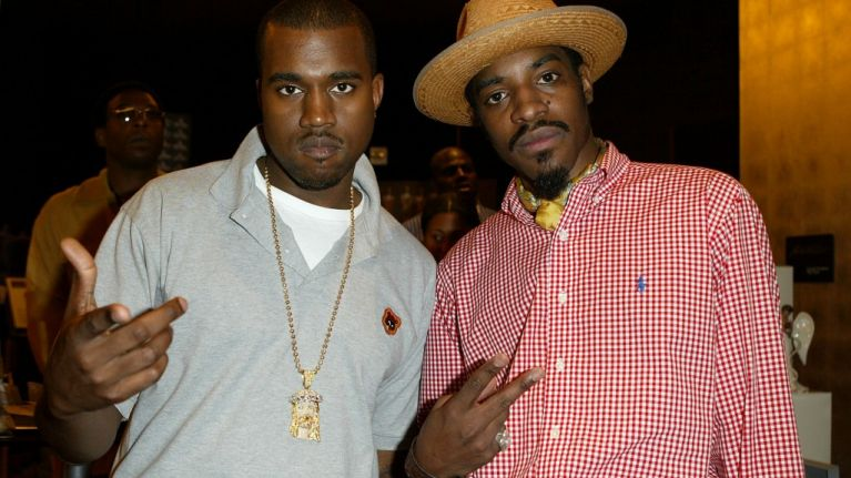PIC: Andre 3000 invited a random Uber passenger to Kanye West's studio session