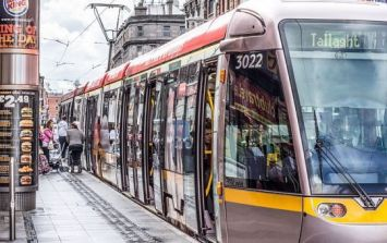 PIC: Dublin man Snapchats two people making the most out of this Luas strike