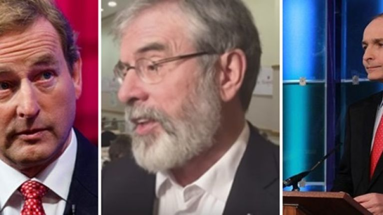 Gerry Adams rules out a Sinn Fein coalition with the main Irish parties