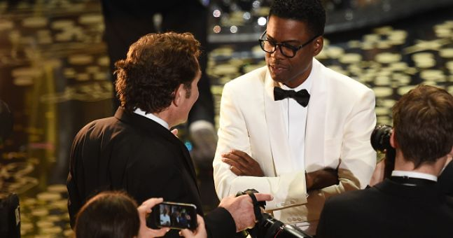 VIDEO: Chris Rock got straight into the #OscarsSoWhite controversy last night