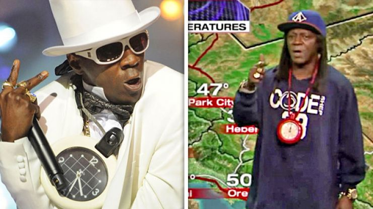 VIDEO: Public Enemy's Flavor Flav presenting the weather is sensational