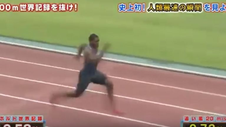 VIDEO: Justin Gatlin breaks 100m world record on a Japanese game show