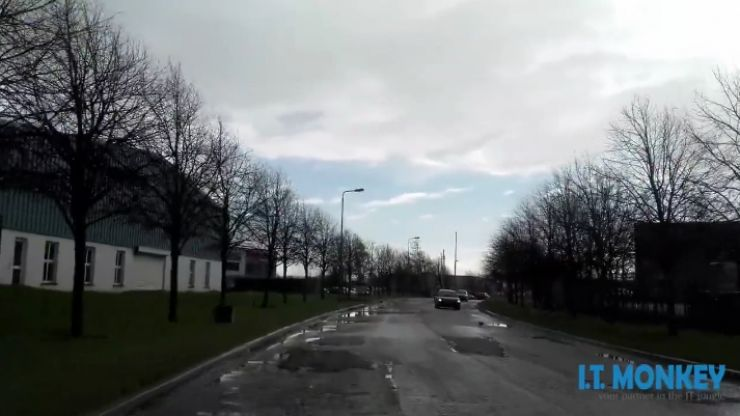 VIDEO: One of the worst roads in Ireland takes you to the Naas NCT Centre