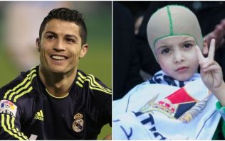 VIDEO: 5-year-old Palestinian child left orphaned by fire-bomb attack gets to meet his hero Ronaldo