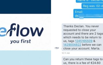 PICS: The brilliant text chat between eFlow and a guy who emigrated to Canada without returning his tags