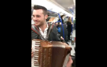 VIDEO: Country music star Nathan Carter had a music duel on the London underground today