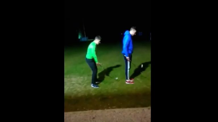 VIDEO: Young Irish golfer performs an array of dazzling trickshots