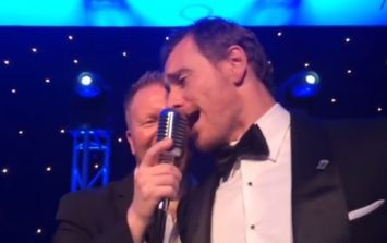 WATCH: Michael Fassbender sings an Elvis song at an event in his honour in Killarney