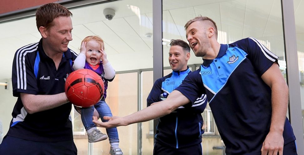 Dublin Senior Footballers Visit Crumlin Children's Hospital, Crumlin, Dublin 2/10/2016