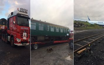 PICS: There's now a big train alongside the big plane at the glamping site in Enniscrone