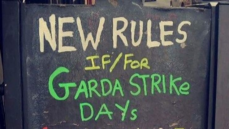 PIC: These are the new rules for the pub if, or when, the Gardaí go on strike