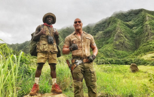 The Rock can't stop pranking Kevin Hart on the Jumanji set