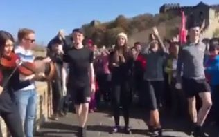 WATCH: Irish dancing group wow onlookers with impromptu show on the Great Wall of China