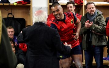GALLERY: President Michael D. Higgins visits the Munster dressing room