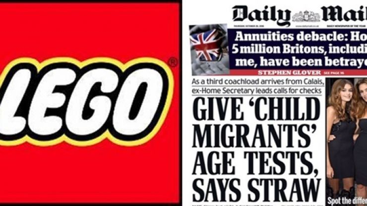 LEGO praised after ending agreement with Daily Mail as 'stop funding hate' complaint goes viral
