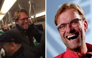 WATCH: Irish fans in Austria serenade the world's best Jürgen Klopp lookalike on the train