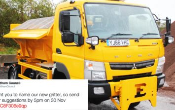 This UK council instantly regret asking the public to name their new gritter
